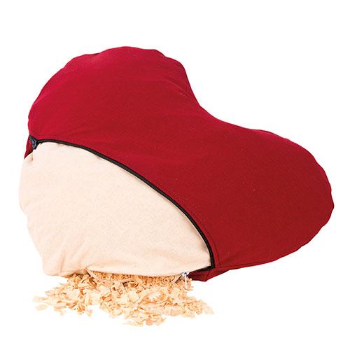 irbenKussen hart rood (2) - ZirbenFamilie